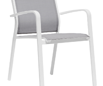 Chaise Louisiane gris/blanc