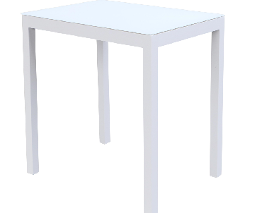 Table Faro blanc 70x50cm