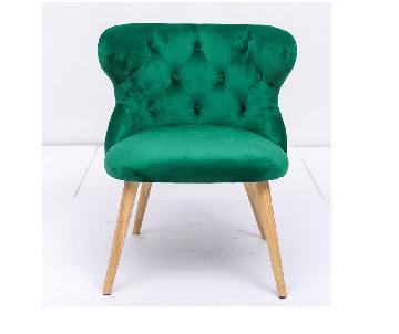 Chaise en velours vert