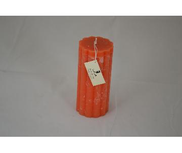 Bougie grise, amandes grillées, 10x20cm