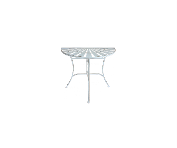Table de jardin demi-lune...