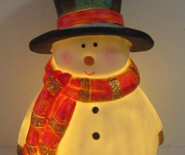 Bonhomme de neige lumineux...