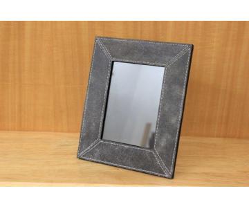 Cadre en cuir, gris 21x17cm