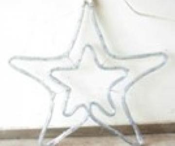 Etoile double en LED 45cm