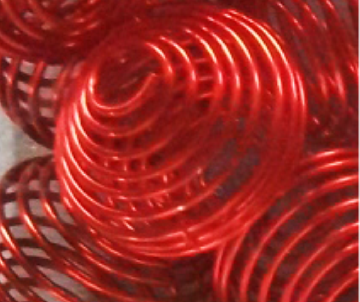 boule spirale rouge