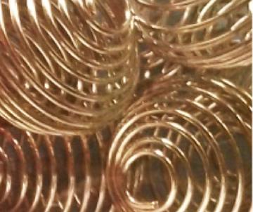 boule spirale argenté