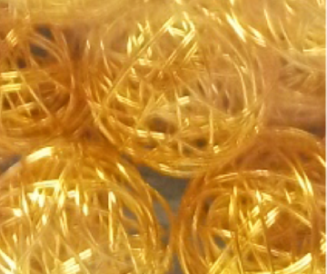 boule metal doré