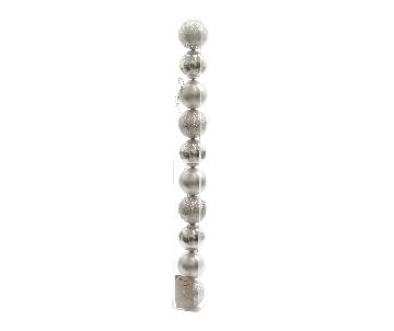 Boules plastique argent 6cm
