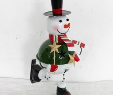 Déco métal bonhomme de neige