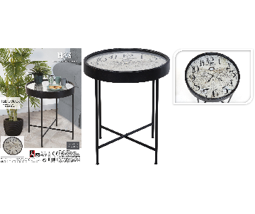 Belle table en fer horloge