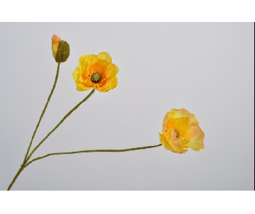 POPPY SPRAY YELLOW 76 cm