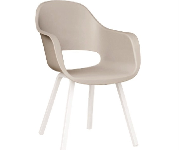 Chaise Madrid champagne/blanc